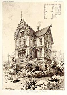 Design for a villa near Paris