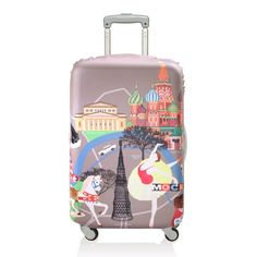 This splashy luggage cover fits most medium uprights to make bags stand out from the pack. Eco-friendly and water- and fade-resistant, this is the perfect solution to weather-protect luggage with an added dash of flair. Luggage Cover, Travel Luggage, Kids Luggage Sets, Best Suitcases, Shops, Luggage Accessories, Tech Accessories, Beyond The Rack, Online Travel