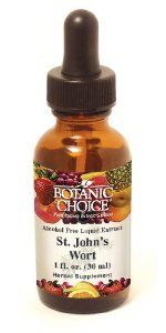 Botanic Choice Alcohol Free Liquid Extract, St. Johnswort, 1 Fluid Ounce (Pack of 2) by Botanic Choice. Save 3 Off!. $9.75. No pills to swallow and alcohol free. Also known as hypericum. Supports peaceful mood. Enjoys worldwide popularity used around the world for over 2,000 years, St. John's worth (worth is the old English word for plant), is the classic calming herb. Today it's more popular than ever for maintaining a positive mood in a stressful world.