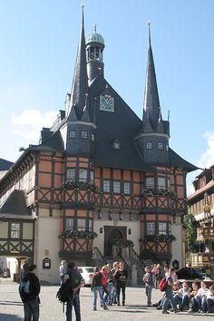 Blick auf das Rathaus der Stadt Wernigerode.