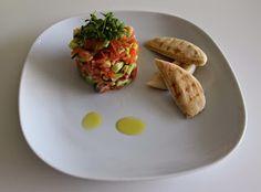 Principessa: tartaar van zalm met avocado en komkommer