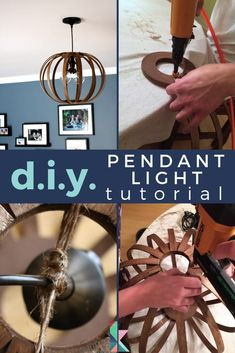 Learn how to make a DIY west elm knock off bentwood pendant for a fraction of the price of the designer inspiration version! #westelmknockoff #westelmknockoffdiy #westelmknockoffdecor #bentwoodpendant #bentwoodpendantwestelm