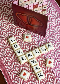 Erica's Sweet Tooth » Words with Cookies for valentines day, spell out your loves name :))