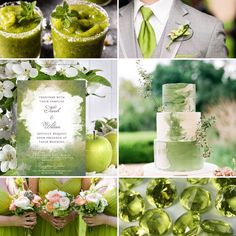 Watercolor Wedding Invitations, Lime Green Wedding Theme Moodboard Inspiration #weddinginvitations #weddinginspiration #weddingideas