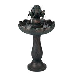 Blumfeldt Rose Bell Fontaine De Jardin Polyresine Pompe 6w Design Aspect Pierre Fountain Garden Fountains Indoor Fountain