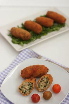 Croquetas de espinacas y pollo con leche evaporada ideal de nestlé