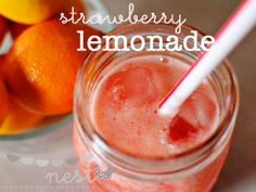 Blended Strawberry Lemonade