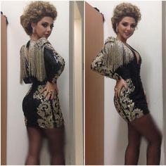 Short Prom Dresses V Neck Sheath Long Sleeve Appliques Tassel Short/Mini Cocktail Dresses 2015 Myriam Fares