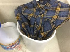 Fresh Vintage by Lisa S: How to Upcycle Flannel Shirts with Bleach and Stencils