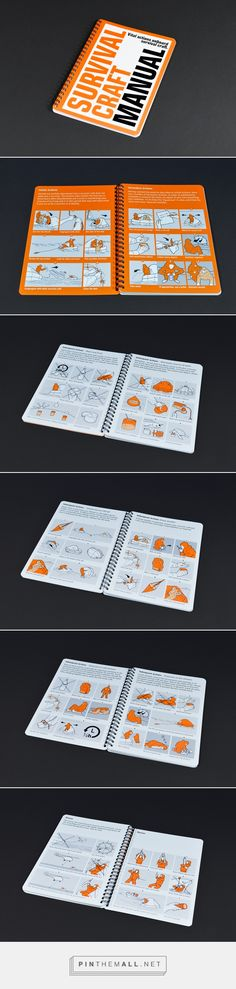 Survival Craft Manual on Behance - created via https://pinthemall.net