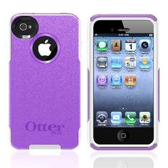 Otter Box Apple iPhone 4/ 4S OEM Purple/ White Commuter Case