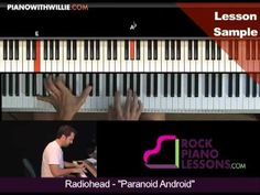 How to Play Radiohead - Paranoid Android on Piano - Tutorial by JazzEdge Piano Tutorial, Youtube, Youtubers, Youtube Movies