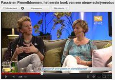 Televisieoptreden Ilse Annegarn en Sylvia Beugelsdijk over Passie & Piemelbloemen bij TVLimburg.