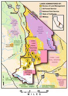 Top 10 Points of Interest, Ridgecrest Field Office, Bureau of Land Management California