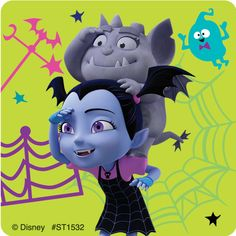 Meet the newest neighbor from Transylvania - Vee! Young kids will love the stickers in this assortment featuring characters from the hit Disney Junior show Vampirina. SmileMakers is the place to shop for the prizes you know they'll stickers per u Disney Au, Disney Cars Party, Disney Frozen Party, Disney Princess Party, Disney Junior, Princess Party Supplies, Disney Birthday, 5th Birthday, Hello Kitty Pictures