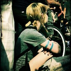 Chicago flag tattoo arm band. Must. Get. NOW.