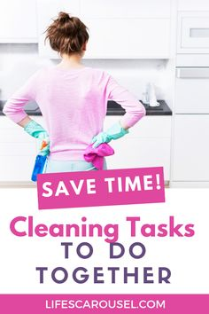 Speed up your cleaning routine with these cleaning duo ideas. Cleaning tasks that you can combine so you can keep your home clean without spending hours cleaning. Cleaning Schedules, Weekly Cleaning, Household Cleaning Tips, House Cleaning Tips, Spring Cleaning, Cleaning Hacks, Task To Do, Disinfecting Wipes, Clean Bedroom