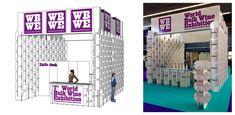 Stand World Bulk Wine Exhibition. 400+ Pieces fitting together. Designed by CartonLAB. Diseño modular. Construido a base de un sistema de piezas encajables. Diseño en cartón por cartonlab.