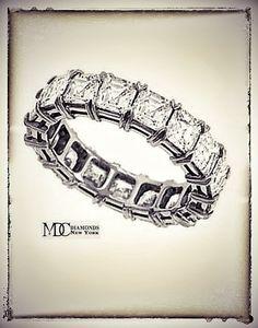 Asscher Cut Diamond Eternity Anniversary Wedding Band 4 carat    #Eternity   #weddingring   #anniversaryring