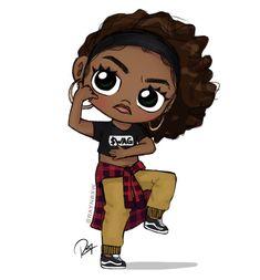 25 best cute drawings images on Black Love Art, Black Girl Art, My Black Is Beautiful, Black Girls Rock, Black Girl Magic, Art Girl, Kawaii Girl Drawings, Cute Drawings, Hair Drawings