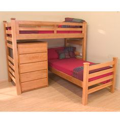 University Loft Graduate Series Twin XL Sr Crew Loft Bed Wild Cherry Finish for students living in dorm rooms or apartments at college or boarding school, on campus or off.