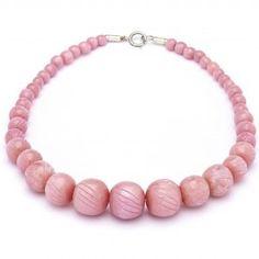 Splendette Fakelite Bead Necklace Pink