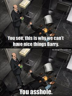 Archer My new favourite TV show Funny Archer Tv Show, Archer Fx, Archer Funny, Archer Quotes, Sterling Archer, Tv Shows Funny, Danger Zone, Best Shows Ever, I Laughed