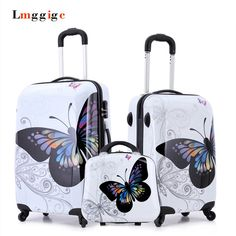 469b08cd1d1ad Cartoon butterfly picture design Luggage,20