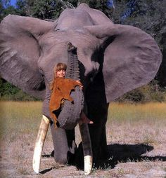 French Tippi Degré, (1990), spent her childhood in Namibia among wild animals including elephants, snakes and lions