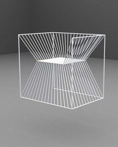 Mirrored Wireframe Seating - The Fakir Chair by AGI Architects is Like a Physical Optical Illusion Funky Furniture, Design Furniture, Contemporary Furniture, Chair Design, Console Design, Banquettes, Take A Seat, Cool Chairs, Furniture Inspiration