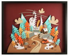 Mountain - Paperframe by Tougui 1, via Behance