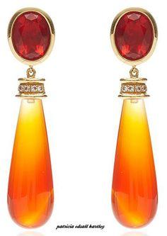 Mexican Fire Earrings - Katherine Jetter.       V