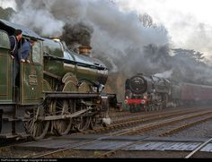 Net Photo: 5029 Great Western Railway Steam at Bewdley, United Kingdom by John Bowle Steam Trains Uk, Old Steam Train, Diesel Locomotive, Steam Locomotive, Heritage Railway, Steam Railway, Train Art, Old Trains, British Rail