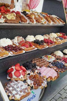 Waffle truck at Volendam, Amsterdam, Netherlands. Waffles are an Amsterdam… Amsterdam Netherlands, Netherlands Food, Amsterdam Trip, Amsterdam Food, Donuts, Cravings, Sweet Tooth, Sweet Treats, Dessert Recipes