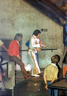 Going on stage for the very last time in Indianapolis, IN on June 26, 1977. To the end, Elvis' greatest gift – his incredible voice – never failed him.'