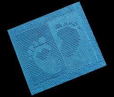 Ravelry: Baby Footprint Heart Cloth pattern by Wineta