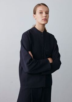 Carine Overshirt In Dark Navy