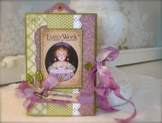 Synnøves Papirverksted: Birthdaybox in green and purple