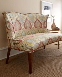 """""""Rosie"""" Settee by Key City Furniture at Horchow."""