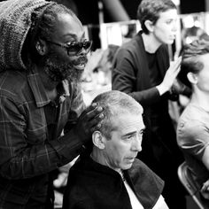 KMS for Oliver Spencer! Experience the great Oliver SpencerShow at London Fashion Week. Amazing hairstyles with the  KMS portfolio - created by lead stylist Johnnie Sapong. #kmshair #stylematters #oliverspencer #kmsinspiration #fashionweek #hairstyling #stylist #styling #hairdresser #look