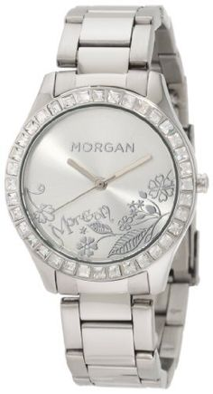 Morgan Women's M1010SMSS Stainless Steel Bracelet Floral Dial Watch Morgan. $53.75. Stainless steel. Quartz movement. 24 months international warranty. Water-resistant to 99 feet (30 M). Floral dial; Mineral glass