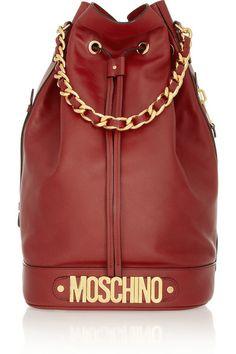 Shop now: Oversized leather bucket bag