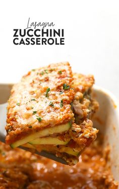 Make this delicious Lasagna Zucchini Casserole for a protein and veggie-filled dinner that's vegetarian and easy to make. This baked zucchini lasagna fuses all of the delicious flavors of Italian cooking with a midwestern, healthy twist! Vegetarian Zucchini Lasagna, Vegetarian Recipes Easy, Raw Food Recipes, Veggie Recipes, Cooking Recipes, Healthy Recipes, Keto Lasagna, Healthy Meals, Lasagna Recipes