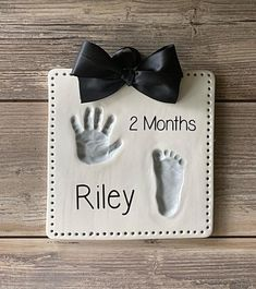 Baby Hand Imprint Kit - Personalized Baby Feet Art - Footprint & Handprint Art - Keepsake of your child - Custom Newborn Keepsake - Infant Baby Feet Art, Baby Hand And Foot Prints, Baby Art, Baby Prints, Newborn Crafts, Baby Feet Crafts, Clay Handprint, Baby Handprint Ideas, Baby Footprint Art