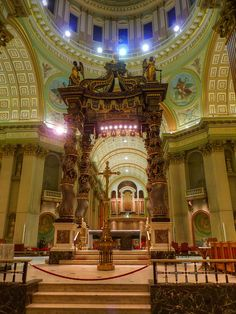 The Cathedral-Basilica of Mary, Queen of the World (French: Cathédrale Marie-Reine-du-Monde) in Montreal, Quebec, Canada, is the seat of the Roman Catholic archdiocese of Montreal. It is the third largest church in Quebec after St. Joseph's Oratory (also in Montreal) and the Basilica of Sainte-Anne-de-Beaupré east of Quebec City. Consecrated 1894