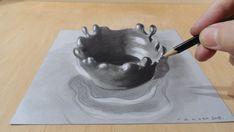 Draw a 3D Splash, Awesome Trick Art
