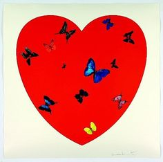 All you need is Love Love Love by Damien Hirst, is currently for sale at The Taylor Gallery.