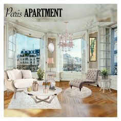 """My Paris Appartment"" by mylene-echelon ❤ liked on Polyvore featuring interior, interiors, interior design, home, home decor, interior decorating, Home Decorators Collection, Stein World, Homelegance and Tiffany & Co."
