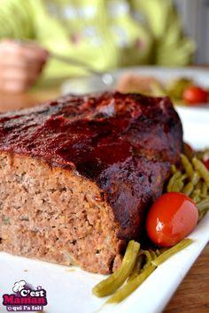 PAIN DE VIANDE MEAT LOAF Grilling Recipes, Meat Recipes, Cooking Recipes, Healthy Recipes, I Love Food, Good Food, Fast Good, Salty Foods, Us Foods