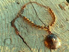 Copper pendant with silver nugget Jasper beads di HandAndBeads, €25.00